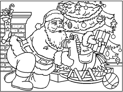 santa s christmas work santas where it christmas elf coloring pages